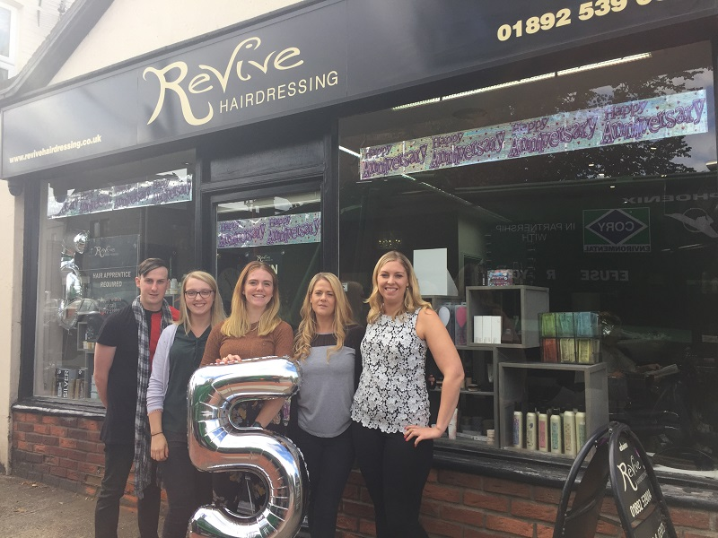 Happy 5th Birthday Revive Hairdressing